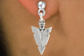 """<bR>               EXCLUSIVELY OURS!!<BR>         AN ALLAN ROBIN DESIGN!!<BR>CLICK HERE TO SEE 600+ EXCITING<BR>   CHANGES THAT YOU CAN MAKE!<BR>              LEAD & NICKEL FREE!!<BR>         W1003SE - """"ARROWHEAD""""<Br>  EARRINGS FROM $4.50 TO $8.35"""