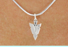 """<bR>               EXCLUSIVELY OURS!!<BR>         AN ALLAN ROBIN DESIGN!!<BR>CLICK HERE TO SEE 600+ EXCITING<BR>   CHANGES THAT YOU CAN MAKE!<BR>              LEAD & NICKEL FREE!!<BR>         W1003SN - """"ARROWHEAD""""<Br>  NECKLACE FROM $4.50 TO $8.35"""