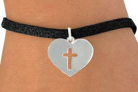 "<bR>               EXCLUSIVELY OURS!!<BR>         AN ALLAN ROBIN DESIGN!!<BR>CLICK HERE TO SEE 600+ EXCITING<BR>   CHANGES THAT YOU CAN MAKE!<BR>              LEAD & NICKEL FREE!!<BR>W1004SB - ""HEART WITH CENTER CROSS"" <Br>   & BRACELET FROM $4.15 TO $8.00"