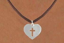 "<bR>               EXCLUSIVELY OURS!!<BR>         AN ALLAN ROBIN DESIGN!!<BR>CLICK HERE TO SEE 600+ EXCITING<BR>   CHANGES THAT YOU CAN MAKE!<BR>              LEAD & NICKEL FREE!!<BR>W1004SN - ""HEART WITH CENTER CROSS""<Br>  NECKLACE FROM $4.50 TO $8.35"