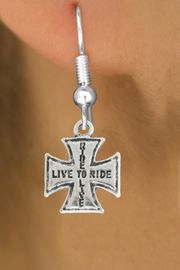 "<bR>               EXCLUSIVELY OURS!!<BR>         AN ALLAN ROBIN DESIGN!!<BR>CLICK HERE TO SEE 600+ EXCITING<BR>   CHANGES THAT YOU CAN MAKE!<BR>              LEAD & NICKEL FREE!!<BR>W1006SE - ""LIVE TO RIDE, RIDE TO LIVE""<Br>  EARRINGS FROM $4.50 TO $8.35"