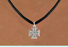 """<bR>               EXCLUSIVELY OURS!!<BR>         AN ALLAN ROBIN DESIGN!!<BR>CLICK HERE TO SEE 600+ EXCITING<BR>   CHANGES THAT YOU CAN MAKE!<BR>              LEAD & NICKEL FREE!!<BR>W1006SN - """"LIVE TO RIDE, RIDE TO LIVE""""<Br>  NECKLACE FROM $4.50 TO $8.35"""