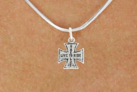 "<bR>               EXCLUSIVELY OURS!!<BR>         AN ALLAN ROBIN DESIGN!!<BR>CLICK HERE TO SEE 600+ EXCITING<BR>   CHANGES THAT YOU CAN MAKE!<BR>              LEAD & NICKEL FREE!!<BR>W1006SN - ""LIVE TO RIDE, RIDE TO LIVE""<Br>  NECKLACE FROM $4.50 TO $8.35"