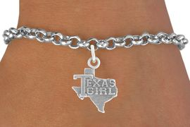 "<bR>               EXCLUSIVELY OURS!!<BR>         AN ALLAN ROBIN DESIGN!!<BR>CLICK HERE TO SEE 600+ EXCITING<BR>   CHANGES THAT YOU CAN MAKE!<BR>              LEAD & NICKEL FREE!!<BR>            W1007SB ""TEXAS GIRL"" <Br>   & BRACELET FROM $4.15 TO $8.00"