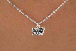 "<bR>               EXCLUSIVELY OURS!!<BR>         AN ALLAN ROBIN DESIGN!!<BR>CLICK HERE TO SEE 600+ EXCITING<BR>   CHANGES THAT YOU CAN MAKE!<BR>              LEAD & NICKEL FREE!!<BR>        W1008SN - ""LOVE TO RUN""<Br>  NECKLACE FROM $4.50 TO $8.35"