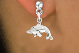 """<bR>               EXCLUSIVELY OURS!!<BR>         AN ALLAN ROBIN DESIGN!!<BR>CLICK HERE TO SEE 600+ EXCITING<BR>   CHANGES THAT YOU CAN MAKE!<BR>              LEAD & NICKEL FREE!!<BR>         W1010SE - """"DOLPHIN""""<Br>  EARRINGS FROM $4.50 TO $8.35"""