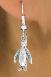"""<bR>               EXCLUSIVELY OURS!!<BR>         AN ALLAN ROBIN DESIGN!!<BR>CLICK HERE TO SEE 600+ EXCITING<BR>   CHANGES THAT YOU CAN MAKE!<BR>              LEAD & NICKEL FREE!!<BR>              W1013SE - """"PENGUIN""""<Br>  EARRINGS FROM $4.50 TO $8.35"""