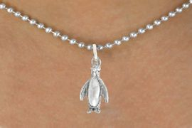 """<bR>               EXCLUSIVELY OURS!!<BR>         AN ALLAN ROBIN DESIGN!!<BR>CLICK HERE TO SEE 600+ EXCITING<BR>   CHANGES THAT YOU CAN MAKE!<BR>              LEAD & NICKEL FREE!!<BR>             W1013SN - """"PENGUIN""""<Br>  NECKLACE FROM $4.50 TO $8.35"""