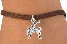 """<bR>               EXCLUSIVELY OURS!!<BR>         AN ALLAN ROBIN DESIGN!!<BR>CLICK HERE TO SEE 600+ EXCITING<BR>   CHANGES THAT YOU CAN MAKE!<BR>              LEAD & NICKEL FREE!!<BR>     W1014SB - """"BRONCO BUSTER"""" <Br>   & BRACELET FROM $4.15 TO $8.00"""