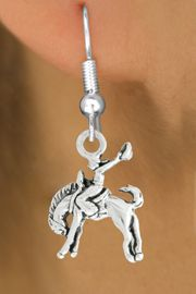 "<bR>               EXCLUSIVELY OURS!!<BR>         AN ALLAN ROBIN DESIGN!!<BR>CLICK HERE TO SEE 600+ EXCITING<BR>   CHANGES THAT YOU CAN MAKE!<BR>              LEAD & NICKEL FREE!!<BR>     W1014SE - ""BRONCO BUSTER""<Br>  EARRINGS FROM $4.50 TO $8.35"