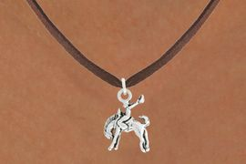 "<bR>               EXCLUSIVELY OURS!!<BR>         AN ALLAN ROBIN DESIGN!!<BR>CLICK HERE TO SEE 600+ EXCITING<BR>   CHANGES THAT YOU CAN MAKE!<BR>              LEAD & NICKEL FREE!!<BR>     W1014SN - ""BRONCO BUSTER""<Br>  NECKLACE FROM $4.50 TO $8.35"