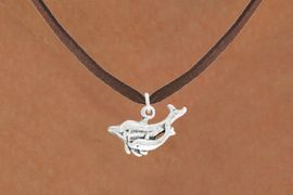 "<bR>               EXCLUSIVELY OURS!!<BR>         AN ALLAN ROBIN DESIGN!!<BR>CLICK HERE TO SEE 600+ EXCITING<BR>   CHANGES THAT YOU CAN MAKE!<BR>              LEAD & NICKEL FREE!!<BR>  W1015SN - ""DOLPHIN AND CALF""<Br>  NECKLACE FROM $4.50 TO $8.35"