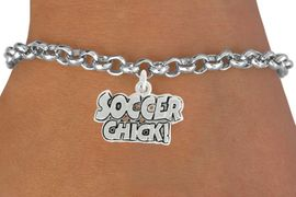 """<bR>               EXCLUSIVELY OURS!!<BR>         AN ALLAN ROBIN DESIGN!!<BR>CLICK HERE TO SEE 600+ EXCITING<BR>   CHANGES THAT YOU CAN MAKE!<BR>              LEAD & NICKEL FREE!!<BR>      W1022SB - """"SOCCER CHICK"""" <Br>   & BRACELET FROM $4.15 TO $8.00<BR>                                  �2010"""