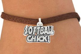 "<bR>               EXCLUSIVELY OURS!!<BR>         AN ALLAN ROBIN DESIGN!!<BR>CLICK HERE TO SEE 600+ EXCITING<BR>   CHANGES THAT YOU CAN MAKE!<BR>              LEAD & NICKEL FREE!!<BR>      W1023SB - ""SOFTBALL CHICK""� <Br>   & BRACELET FROM $4.15 TO $8.00"