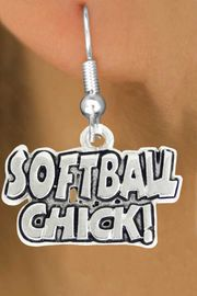 "<bR>               EXCLUSIVELY OURS!!<BR>         AN ALLAN ROBIN DESIGN!!<BR>CLICK HERE TO SEE 600+ EXCITING<BR>   CHANGES THAT YOU CAN MAKE!<BR>              LEAD & NICKEL FREE!!<BR>     W1023SE - ""SOFTBALL CHICK""�<Br>  EARRINGS FROM $4.50 TO $8.35"