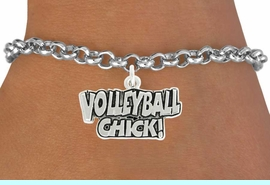 """<bR>               EXCLUSIVELY OURS!!<BR>         AN ALLAN ROBIN DESIGN!!<BR>CLICK HERE TO SEE 600+ EXCITING<BR>   CHANGES THAT YOU CAN MAKE!<BR>              LEAD & NICKEL FREE!!<BR>  W1024SB - """"VOLLEYBALL CHICK"""" <Br>   & BRACELET FROM $4.15 TO $8.00"""