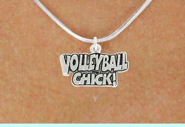 """<bR>               EXCLUSIVELY OURS!!<BR>         AN ALLAN ROBIN DESIGN!!<BR>CLICK HERE TO SEE 600+ EXCITING<BR>   CHANGES THAT YOU CAN MAKE!<BR>              LEAD & NICKEL FREE!!<BR>  W1024SN - """"VOLLEYBALL CHICK""""<Br>  NECKLACE FROM $4.50 TO $8.35"""