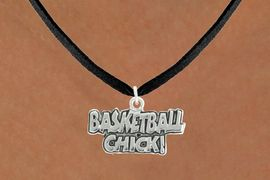 """<bR>               EXCLUSIVELY OURS!!<BR>         AN ALLAN ROBIN DESIGN!!<BR>CLICK HERE TO SEE 600+ EXCITING<BR>   CHANGES THAT YOU CAN MAKE!<BR>              LEAD & NICKEL FREE!!<BR>  W1025SN - """"BASKETBALL CHICK""""<Br>  NECKLACE FROM $4.50 TO $8.35"""