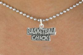 "<bR>               EXCLUSIVELY OURS!!<BR>         AN ALLAN ROBIN DESIGN!!<BR>CLICK HERE TO SEE 600+ EXCITING<BR>   CHANGES THAT YOU CAN MAKE!<BR>              LEAD & NICKEL FREE!!<BR>  W1025SN - ""BASKETBALL CHICK""<Br>  NECKLACE FROM $4.50 TO $8.35"