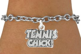 "<bR>               EXCLUSIVELY OURS!!<BR>         AN ALLAN ROBIN DESIGN!!<BR>CLICK HERE TO SEE 600+ EXCITING<BR>   CHANGES THAT YOU CAN MAKE!<BR>              LEAD & NICKEL FREE!!<BR>         W1027SB - ""TENNIS CHICK"" <Br>   & BRACELET FROM $4.15 TO $8.00"