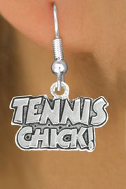 "<bR>               EXCLUSIVELY OURS!!<BR>         AN ALLAN ROBIN DESIGN!!<BR>CLICK HERE TO SEE 600+ EXCITING<BR>   CHANGES THAT YOU CAN MAKE!<BR>              LEAD & NICKEL FREE!!<BR>         W1027SE - ""TENNIS CHICK""<Br>  EARRINGS FROM $4.50 TO $8.35"