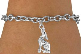 """<bR>               EXCLUSIVELY OURS!!<BR>         AN ALLAN ROBIN DESIGN!!<BR>CLICK HERE TO SEE 600+ EXCITING<BR>   CHANGES THAT YOU CAN MAKE!<BR>              LEAD & NICKEL FREE!!<BR>      W1028SB - """"COYOTE HOWLING"""" <Br>   & BRACELET FROM $4.15 TO $8.00"""