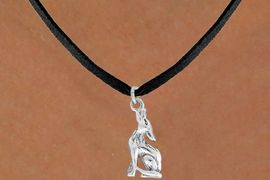 "<bR>               EXCLUSIVELY OURS!!<BR>         AN ALLAN ROBIN DESIGN!!<BR>CLICK HERE TO SEE 600+ EXCITING<BR>   CHANGES THAT YOU CAN MAKE!<BR>              LEAD & NICKEL FREE!!<BR>   W1028SN - ""COYOTE HOWLING""<Br>  NECKLACE FROM $4.50 TO $8.35"
