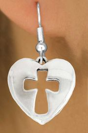 "<bR>               EXCLUSIVELY OURS!!<BR>         AN ALLAN ROBIN DESIGN!!<BR>CLICK HERE TO SEE 600+ EXCITING<BR>   CHANGES THAT YOU CAN MAKE!<BR>              LEAD & NICKEL FREE!!<BR> W1029SE - ""HEART WITH CROSS""<Br>  EARRINGS FROM $4.50 TO $8.35"
