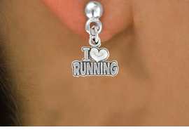 "<bR>               EXCLUSIVELY OURS!!<BR>         AN ALLAN ROBIN DESIGN!!<BR>CLICK HERE TO SEE 600+ EXCITING<BR>   CHANGES THAT YOU CAN MAKE!<BR>              LEAD & NICKEL FREE!!<BR>       W1031SE - ""I LOVE RUNNING""<Br>  EARRINGS FROM $4.50 TO $8.35"