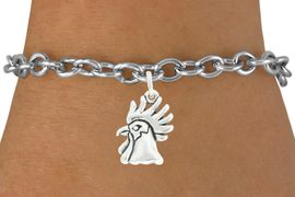 "<bR>               EXCLUSIVELY OURS!!<BR>         AN ALLAN ROBIN DESIGN!!<BR>CLICK HERE TO SEE 600+ EXCITING<BR>   CHANGES THAT YOU CAN MAKE!<BR>              LEAD & NICKEL FREE!!<BR>             W1037SB - ""ROOSTER"" <Br>   & BRACELET FROM $4.50 TO $8.35"