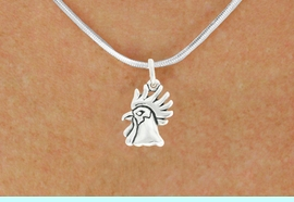 """<bR>               EXCLUSIVELY OURS!!<BR>         AN ALLAN ROBIN DESIGN!!<BR>CLICK HERE TO SEE 600+ EXCITING<BR>   CHANGES THAT YOU CAN MAKE!<BR>              LEAD & NICKEL FREE!!<BR>             W1037SN - """"ROOSTER""""<Br>  NECKLACE FROM $4.50 TO $8.35"""