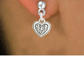 <bR>               EXCLUSIVELY OURS!!<BR>         AN ALLAN ROBIN DESIGN!!<BR>CLICK HERE TO SEE 600+ EXCITING<BR>   CHANGES THAT YOU CAN MAKE!<BR>              LEAD & NICKEL FREE!!<BR>W1039SE - SWIRL DESIGN HEART CHARM<Br>  EARRINGS FROM $4.50 TO $8.35