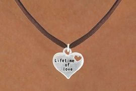 "<bR>                   EXCLUSIVELY OURS!!<BR>             AN ALLAN ROBIN DESIGN!!<BR>    CLICK HERE TO SEE 600+ EXCITING<BR>       CHANGES THAT YOU CAN MAKE!<BR>                  LEAD & NICKEL FREE!!<BR> W1043SN - ""LIFETIME OF LOVE"" HEART<Br>NECKLACE FROM $4.50 TO $8.35 �2011"
