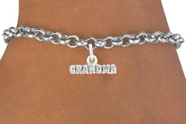 """<bR>               EXCLUSIVELY OURS!!<BR>         AN ALLAN ROBIN DESIGN!!<BR>CLICK HERE TO SEE 600+ EXCITING<BR>   CHANGES THAT YOU CAN MAKE!<BR>              LEAD & NICKEL FREE!!<BR>           W1044SB - """"GRANDMA"""" <Br>   & BRACELET FROM $4.15 TO $8.00"""