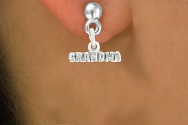 """<bR>               EXCLUSIVELY OURS!!<BR>         AN ALLAN ROBIN DESIGN!!<BR>CLICK HERE TO SEE 600+ EXCITING<BR>   CHANGES THAT YOU CAN MAKE!<BR>              LEAD & NICKEL FREE!!<BR>           W1044SE - """"GRANDMA""""<Br>  EARRINGS FROM $4.50 TO $8.35"""