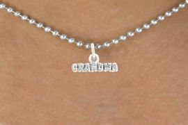 """<bR>               EXCLUSIVELY OURS!!<BR>         AN ALLAN ROBIN DESIGN!!<BR>CLICK HERE TO SEE 600+ EXCITING<BR>   CHANGES THAT YOU CAN MAKE!<BR>              LEAD & NICKEL FREE!!<BR>           W1044SN - """"GRANDMA""""<Br>  NECKLACE FROM $4.50 TO $8.35"""