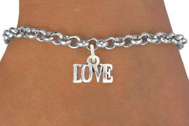 "<bR>               EXCLUSIVELY OURS!!<BR>         AN ALLAN ROBIN DESIGN!!<BR>CLICK HERE TO SEE 600+ EXCITING<BR>   CHANGES THAT YOU CAN MAKE!<BR>              LEAD & NICKEL FREE!!<BR>                 W1045SB - ""LOVE"" <Br>   & BRACELET FROM $4.15 TO $8.00"