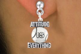 "<bR>                               EXCLUSIVELY OURS!!<BR>                        AN ALLAN ROBIN DESIGN!!<BR>                CLICK HERE TO SEE 600+ EXCITING<BR>                   CHANGES THAT YOU CAN MAKE!<BR>                              LEAD & NICKEL FREE!!<BR>           W1047SE - ""ATTITUDE IS EVERYTHING""<Br>                          TENNIS BALL  EARRING <BR>                      FROM 4.50 TO $8.35 &#169;2011"