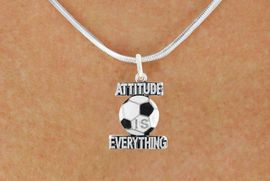 """<bR>                              EXCLUSIVELY OURS!!<BR>                        AN ALLAN ROBIN DESIGN!!<BR>               CLICK HERE TO SEE 600+ EXCITING<BR>                 CHANGES THAT YOU CAN MAKE!<BR>                            LEAD & NICKEL FREE!!<BR>W1049SN - """"ATTITUDE IS EVERYTHING"""" SOCCER<Br>         NECKLACE FROM $4.50 TO $8.35 �2011"""