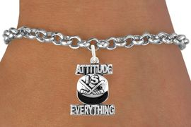 "<bR>                             EXCLUSIVELY OURS!!<BR>                       AN ALLAN ROBIN DESIGN!!<BR>              CLICK HERE TO SEE 600+ EXCITING<BR>                 CHANGES THAT YOU CAN MAKE!<BR>                            LEAD & NICKEL FREE!!<BR>          W1051SB - ""ATTITUDE IS EVERYTHING"" <Br>HOCKEY BRACELET FROM $4.15 TO $8.00 &#169;2011"