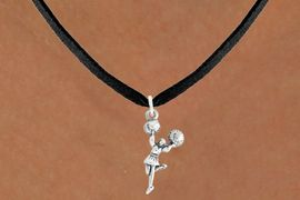 """<bR>                   EXCLUSIVELY OURS!!<BR>             AN ALLAN ROBIN DESIGN!!<BR>    CLICK HERE TO SEE 600+ EXCITING<BR>       CHANGES THAT YOU CAN MAKE!<BR>                  LEAD & NICKEL FREE!!<BR>            W1054SN - """"CHEERLEADER""""<Br>NECKLACE FROM $4.50 TO $8.35 �2011"""