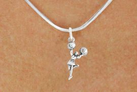 "<bR>                   EXCLUSIVELY OURS!!<BR>             AN ALLAN ROBIN DESIGN!!<BR>    CLICK HERE TO SEE 600+ EXCITING<BR>       CHANGES THAT YOU CAN MAKE!<BR>                  LEAD & NICKEL FREE!!<BR>            W1054SN - ""CHEERLEADER""<Br>NECKLACE FROM $4.55 TO $8.00 �2011"