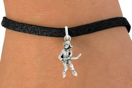 "<bR>                   EXCLUSIVELY OURS!!<BR>             AN ALLAN ROBIN DESIGN!!<BR>    CLICK HERE TO SEE 600+ EXCITING<BR>       CHANGES THAT YOU CAN MAKE!<BR>                  LEAD & NICKEL FREE!!<BR>             W1056SB - ""HOCKEY GIRL""<Br>BRACELET FROM $4.15 TO $8.00 �2011"