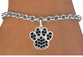 <bR>                                 EXCLUSIVELY OURS!!<BR>                           AN ALLAN ROBIN DESIGN!!<BR>                  CLICK HERE TO SEE 600+ EXCITING<BR>                     CHANGES THAT YOU CAN MAKE!<BR>                                LEAD & NICKEL FREE!!<BR>                     W1057SB BLACK PAW BRACELET<br>                         FROM $5.15 TO $9.00 &#169;2011