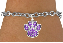 <bR>                                 EXCLUSIVELY OURS!!<BR>                           AN ALLAN ROBIN DESIGN!!<BR>                  CLICK HERE TO SEE 600+ EXCITING<BR>                     CHANGES THAT YOU CAN MAKE!<BR>                                LEAD & NICKEL FREE!!<BR>                  W1058SB - PURPLE PAW BRACELET<br>                         FROM $5.15 TO $9.00 &#169;2011