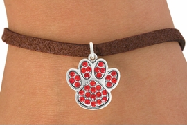 <bR>                                 EXCLUSIVELY OURS!!<BR>                           AN ALLAN ROBIN DESIGN!!<BR>                  CLICK HERE TO SEE 600+ EXCITING<BR>                     CHANGES THAT YOU CAN MAKE!<BR>                                LEAD & NICKEL FREE!!<BR>                     W1059SB - RED PAW BRACELET<br>                         FROM $5.15 TO $9.00 &#169;2011