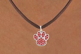 <bR>                            EXCLUSIVELY OURS!!<BR>                      AN ALLAN ROBIN DESIGN!!<BR>             CLICK HERE TO SEE 600+ EXCITING<BR>                CHANGES THAT YOU CAN MAKE!<BR>                           LEAD & NICKEL FREE!!<BR>                W1059SN - RED PAW  NECKLACE <br>                   FROM $5.55 TO $9.00 �2011