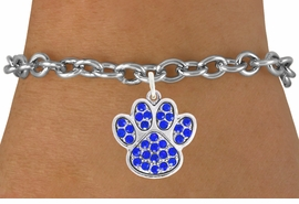 <bR>                                 EXCLUSIVELY OURS!!<BR>                           AN ALLAN ROBIN DESIGN!!<BR>                  CLICK HERE TO SEE 600+ EXCITING<BR>                     CHANGES THAT YOU CAN MAKE!<BR>                                LEAD & NICKEL FREE!!<BR>                    W1060SB - BLUE PAW BRACELET<br>                         FROM $5.15 TO $9.00 &#169;2011