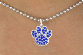 <bR>                            EXCLUSIVELY OURS!!<BR>                      AN ALLAN ROBIN DESIGN!!<BR>             CLICK HERE TO SEE 600+ EXCITING<BR>                CHANGES THAT YOU CAN MAKE!<BR>                           LEAD & NICKEL FREE!!<BR>              W1060SN - BLUE PAW  NECKLACE <br>                   FROM $5.55 TO $9.00 �2011