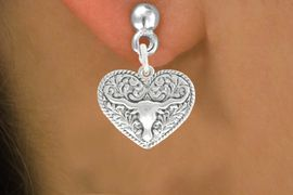 <bR>                    EXCLUSIVELY OURS!!<BR>              AN ALLAN ROBIN DESIGN!!<BR>     CLICK HERE TO SEE 600+ EXCITING<BR>        CHANGES THAT YOU CAN MAKE!<BR>                   LEAD & NICKEL FREE!!<BR>      W1066SE - LONGHORN IN HEART<Br>EARRINGS FROM $4.50 TO $8.35 �2011